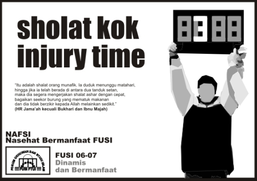 sholat kok injury time